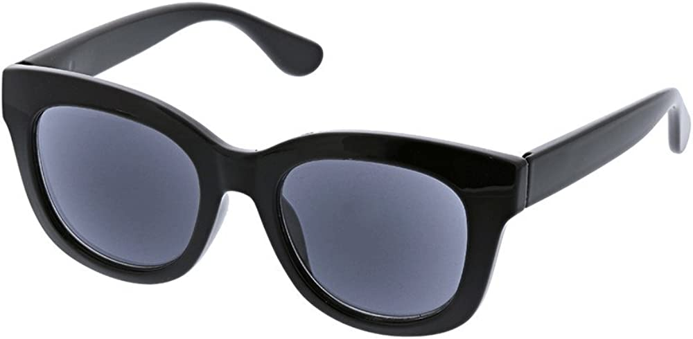 Peepers by PeeperSpecs Women's Center Stage Sun Polarized Oversized Sunglasses, Black, 47 mm + 0