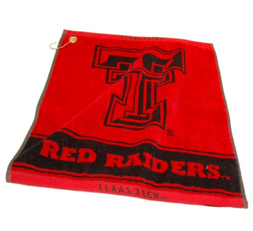 Team Golf NCAA Texas Tech Red Raiders Jacquard Woven Golf Towel, 16
