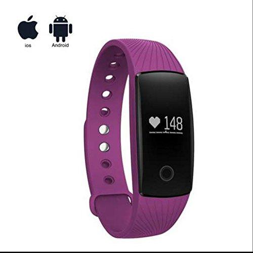 Mejor Regalos portátil de fitness Armband, delgado pantalla táctil, frecuencia cardíaca Tensiómetro, dormir Monitor, podómetro, contador de calorías, ...