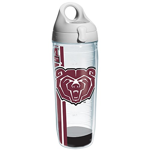 Tervis 1205093 Missouri State University Colossal Wrap Individual Water Bottle with Gray lid, 24 oz, Clear (Missouri Bottle)