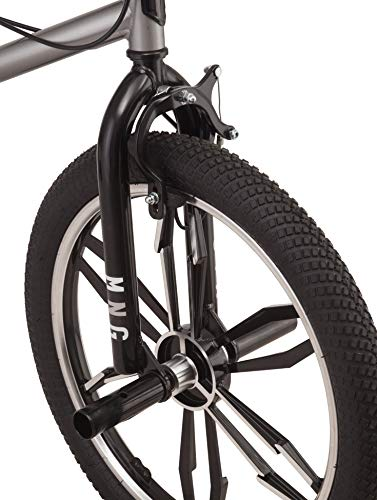 Mongoose Legion Mag Freestyle BMX Bike Featuring Hi-Ten Steel Frame and 40x16T BMX Gearing with 20-Inch Mag Wheels, Silver by Mongoose (Image #4)