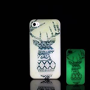 LCJ iPhone 4/4S compatible Graphic/Special Design/Glow in the Dark Back Cover
