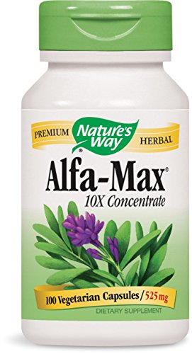 - Natures Way Alfa Max Concentrate, 525 Milligram Per Capsule, 100 Vegetarian Capsules