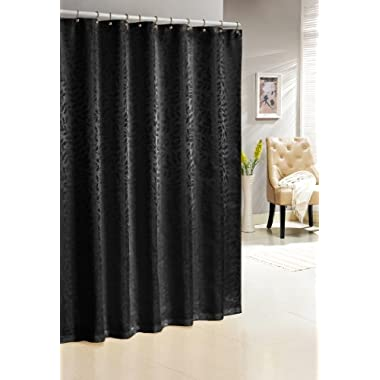 Duck River Textiles Baltic Jacquard Shower Curtain, Black