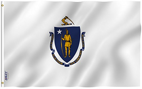 Anley |Fly Breeze| 3x5 Foot Massachusetts State Flag - Vivid