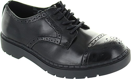 T.U.K. Shoes Mens Black Leather Argyl Derby Shoe EU41 / UKW8 UKM7