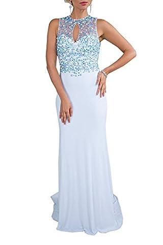 Milano Formals Women's Classic Mermaid Long Blue Evening Dress