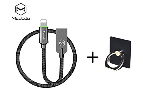 Smart LED Auto Disconnect Charger Cable ,Charger Cord Nylon Braided USB Charger Compatible with Phone X Phone 8 7/ 7 Plus 6 /6 plus 6s