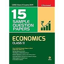 15 Sample Papers Economic Class 11 CBSE