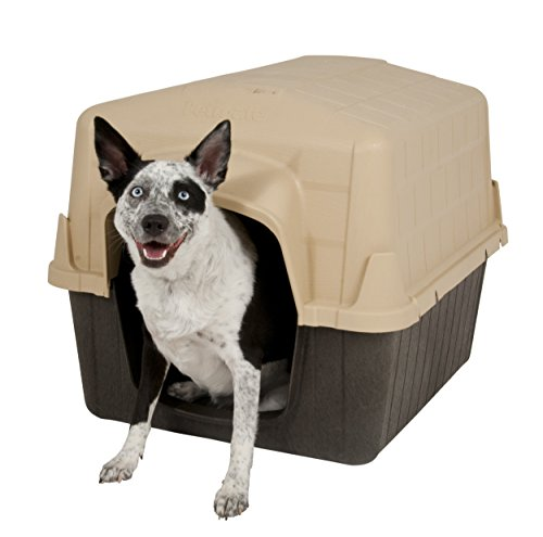 (Aspen Pet Petbarn Dog House Snow and Rain Diverting Roof Raised Floor No-Tool Assembly 4 Sizes Available)