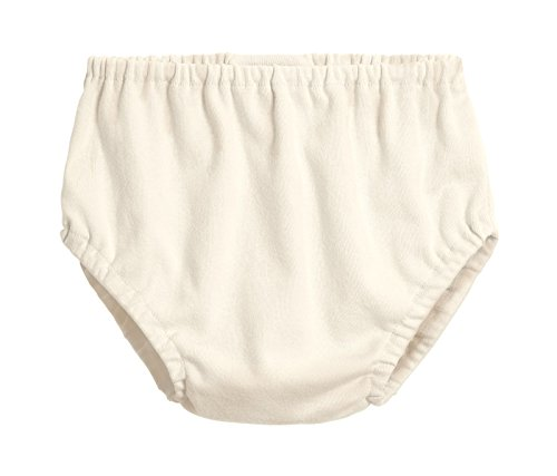 City Threads Baby Girls' and Baby Boys' Unisex Organic Diaper Covers Bloomers Soft Cotton, Oatmeal, 0-3m
