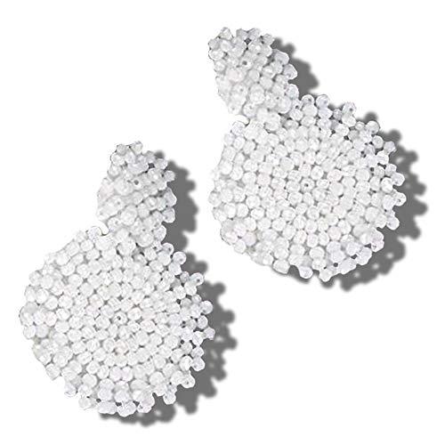 Statement Drop Earrings - Bohemian Beaded Round Dangle Earrings Gift for Women ()