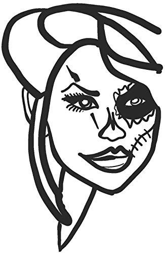 hBARSCI Sugar Skull Makeup Vinyl Decal - 5