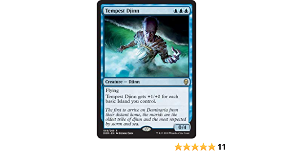 The Gathering MTG Dominaria Tempest Djinn X4 M//NM Magic