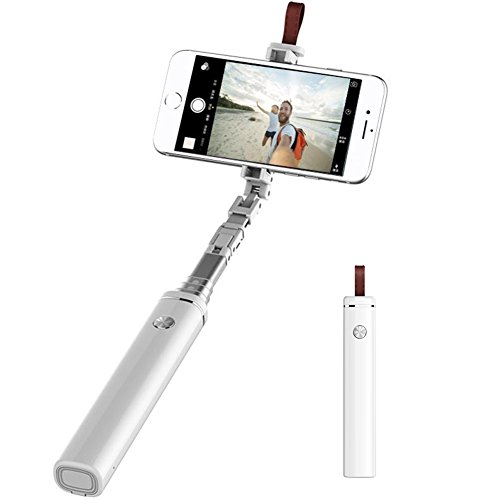 Selfie Stick blue-tooth, MIPOW Extendable Monopod with Built-in Wireless Remote Shutter and Anti-loss Alarm, 75-Hour Long Battery Life for iPhone X/8/8 Plus/7/7 Plus, Galaxy S9/S8 Note 8/S7/S6/Edge by MIPOW