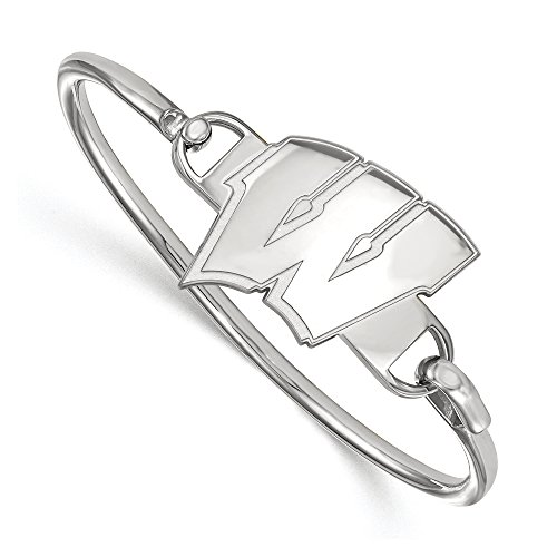 NCAA Sterling Silver University of Wisconsin Bangle, 8 inch by LogoArt
