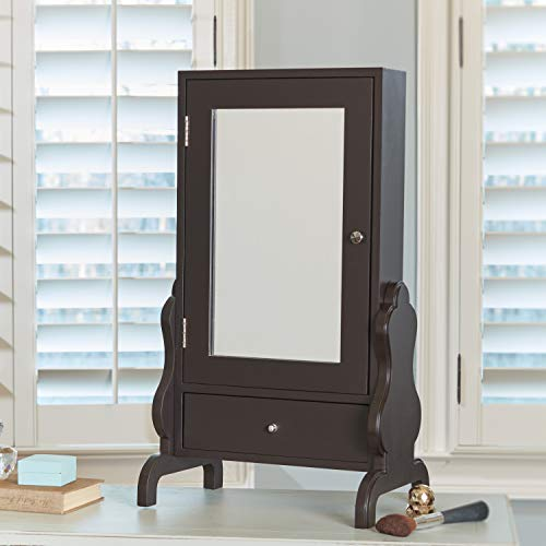 FirsTime & Co. InnerSpace Luxury Products Tabletop Mirror with Jewelry Storage - Espresso