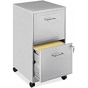 Amazon.com : Storex 2-Drawer Mobile File Cabinet with Lock, 19 x ...