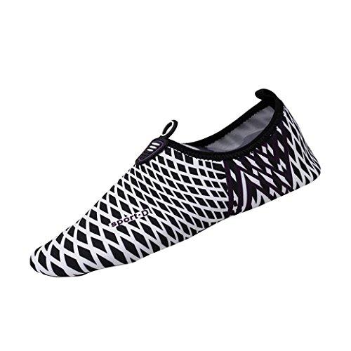 Yogogo Homme Femme Chaussures De Plage Aquatiques Water Shoes Chausson Chaussettes Sport Noir
