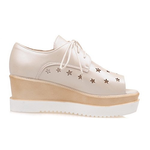 SLC04172 AdeeSu Femme Ouvert Beige Bout 0xdPwxC
