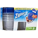 Ziploc One Press Seal Extra Small Square Container - 8 ct