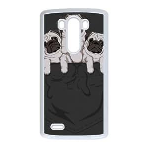 pocket pug LG G3 Cell Phone Case White Delicate gift AVS_558628