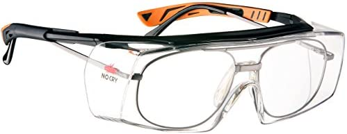 NoCry Over-Glasses Safety Glasses – with Clear Anti-Scratch Wraparound Lenses, Adjustable Arms