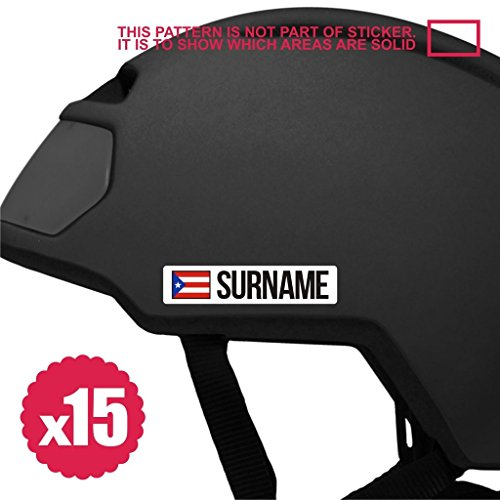 Infinity-270 Bike Stickers Name 15x Mini Bicycle Frame Sticker Decal Helmet Custom Flag Personalized 80mm Puerto rico MTB roadbike Down Hill