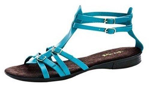 Walk cuero azul mujer azul 39 Sandalias para de Sandalette City FBqag