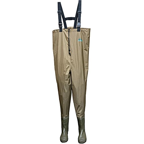 Itasca Men's Laminated PVC Chest Wader with Neoprene Insulation Rain Boot, Tan, 10 D US - Pvc Laminated