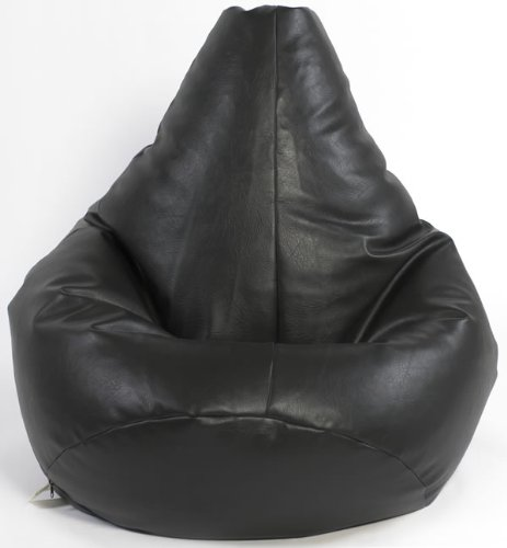 Kids Black Highback Gaming Beanbag Faux Leather Bean Bag Chair Beautiful Beanbags Ltd