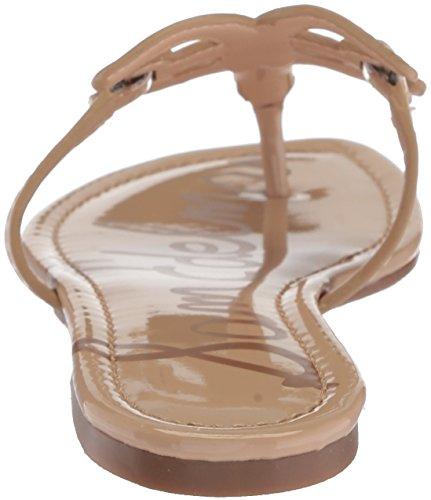 Sam Edelman Womens Carter Flat Sandal Nude Linen Patent