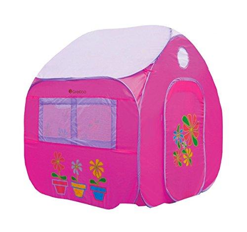 Playhouse Kids Garden House - GreEco Kids Pop Up Tent, Play House Tent, 4 X 3.45 X 3.45 Feet, Pink