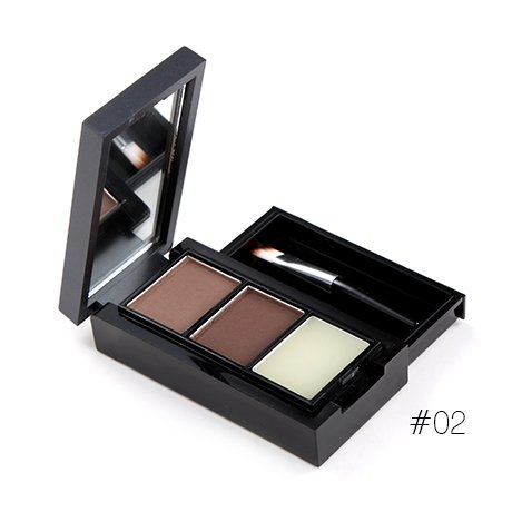 3 Colors Eyebrow Powder Palette Cosmetic Brow Enhancer Professional Waterproof Makeup Eye Shadow With Brush Mirror Box