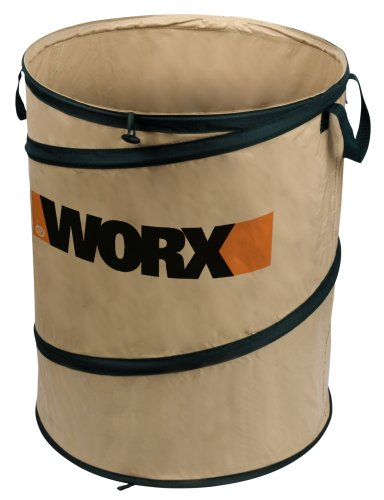 WORX WA0030 Landscaping 26-Gallon Collapsible Yard Waste Bag/Leaf Bin, Tan