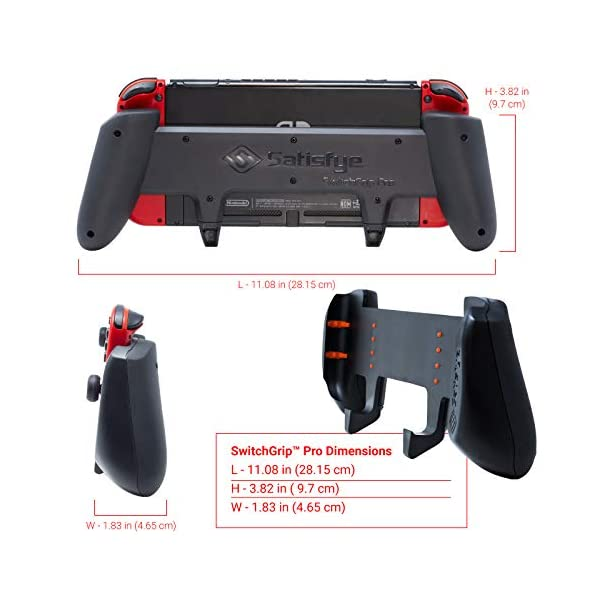 Satisfye - ZenGrip Pro, a Switch Grip Compatible with Nintendo Switch - Comfortable & Ergonomic Grip, Joy Con & Switch… 3