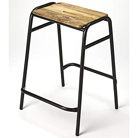 Marvelous Amazon Com Beaumont Lane 24 Counter Stool In Black And Gmtry Best Dining Table And Chair Ideas Images Gmtryco