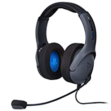 PDP PS4 LVL50 Wired Stereo Gaming Headset, 051-099-NA-BK