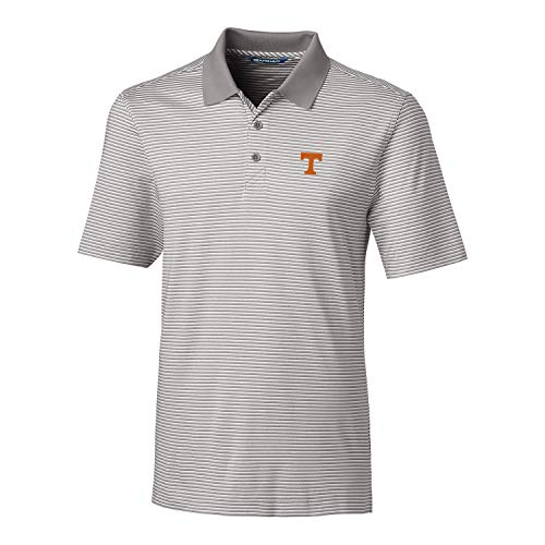 (Cutter & Buck NCAA Tennessee Volunteers Men's Short Sleeve Tonal Stripe Forge Polo, Polished, XL)