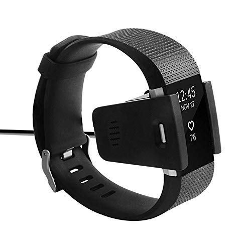 clockeikic Black USB Charger Cable Replacement USB Charger Suitable For Fitbit Charge 2