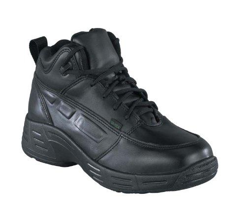 Reebok Mens Black Leather Work Shoes Postal TCT Athletic Oxford