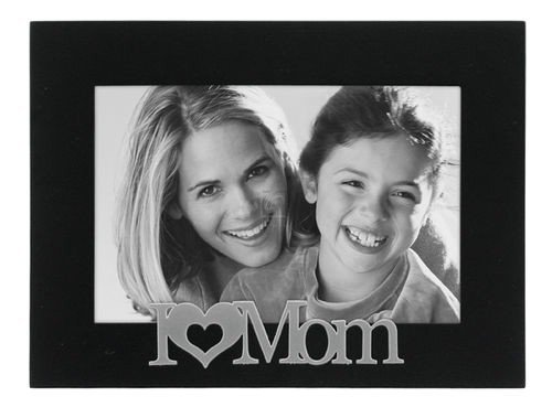 Malden International Designs I love Mom Expressions Picture Frame, 4x6, Black Design Photo
