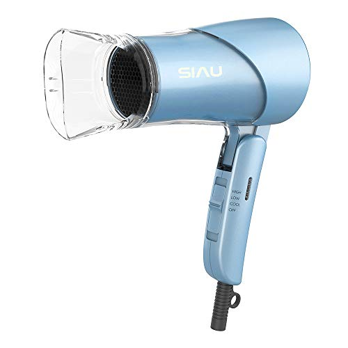 SIAU Fast Drying Hair Dryer Household Blow Dryer with Ceramic Ionic and Far Infrared Professional Styler ETL FCC Certificated (Sea Blue)