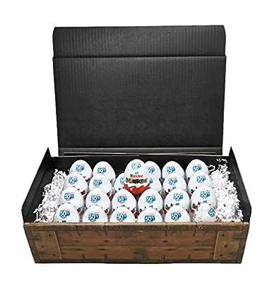Kinder Überraschung - 24 Eier in Geschenkkarton mit Schatzkisten Optik, perfekt z.B. als Geburtstagsgeschenk