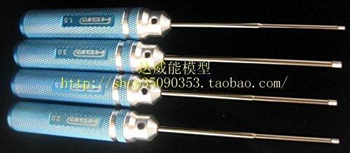 Metal Hex Key Screw Driver 1.5mm 2.0mm 2.5mm 3.0mm Tool Kit HSP 80107