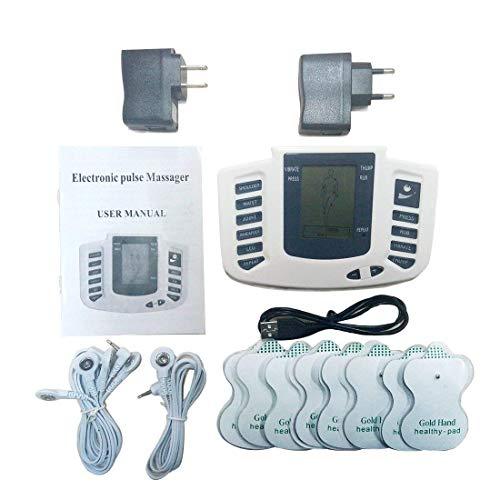 Estimulador electrónico de Abdominales, Masajeador Eléctrico Cinturón, Entrenador Inalámbrico Portátil de 6 Modos de...