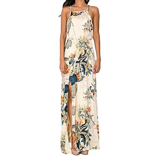 Generic Damen Kleid weiß Blumenmuster