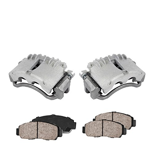 Assembly Caliper (COEK00254 [2] FRONT Premium Loaded OE Caliper Assembly Set + Quiet Low Dust Ceramic Brake Pads [ SN95 ])
