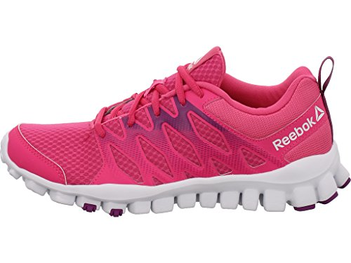 Reebok Realflex Train 4.0, Zapatillas de Gimnasia para Niñas Rosa (Charged Pink / Aubergine / White)
