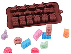 Innovative Easy Release 15 Candy Molds Ice Cube Mold Trays Car Trojans Trays